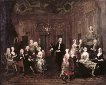 William Wollaston and His Family in a Grand Interior | William Hogarth | oil painting