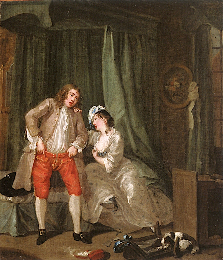After (indoor) | William Hogarth | oil painting