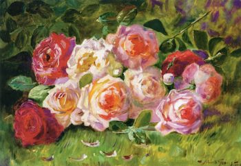 Still Life with Roses | Abbott Fuller Graves | oil painting