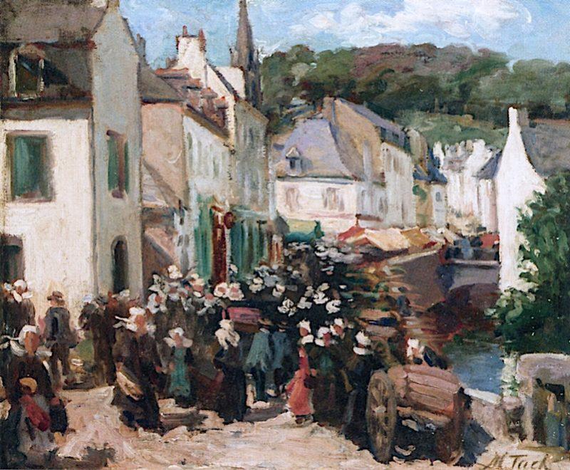Pont Aven   Augustus Vincent Tack   oil painting