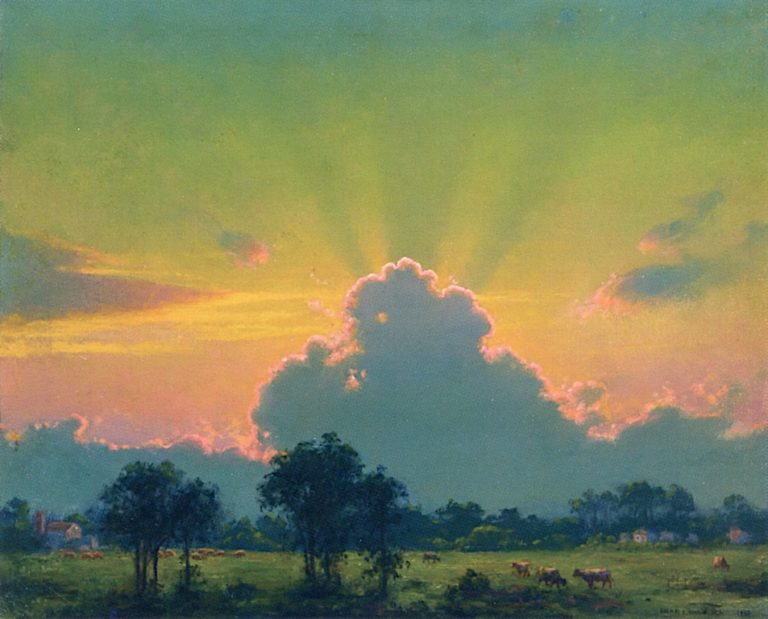 The Farm at Sunset | Charles Courtney Curran | oil painting