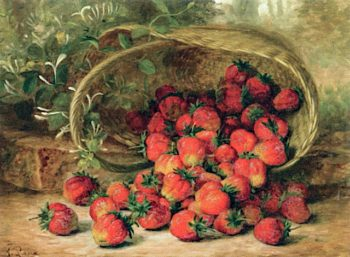 Strawberries | August Laux | oil painting