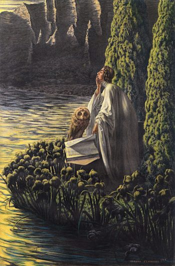 Interior Silence | Carlos Schwabe | oil painting