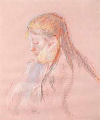 Little Girl with Long Hair | Berthe Morisot | oil painting