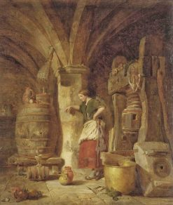 The Cider Press | Alfred Provis | oil painting