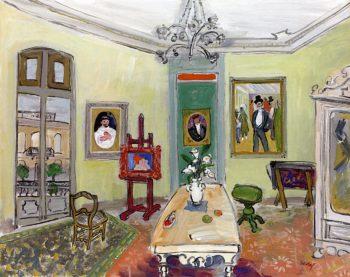 The Studio in Paris | Carlos Nadal | oil painting