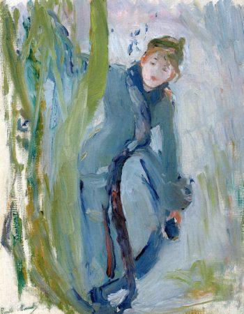 Girl Holding Her Skate | Berthe Morisot | oil painting
