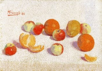 Still Life with Apples and Oranges | Achille Lauge | oil painting
