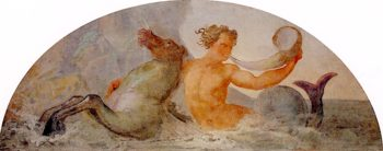 Triton Sounding the Conch with Hippicampus | Francesco Paolo Hayez | oil painting