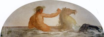 Triton with Hippocampus | Francesco Paolo Hayez | oil painting