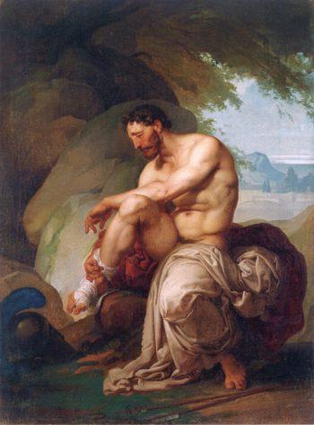 Wounded Philoctetes | Francesco Paolo Hayez | oil painting