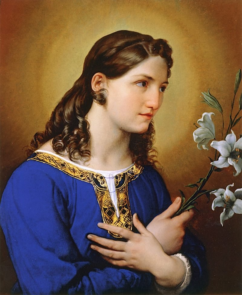 Angel of the Annunciation | Francesco Paolo Hayez | oil painting