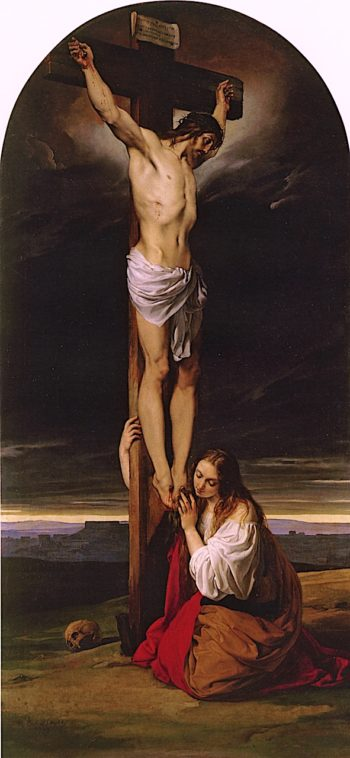 The Crucifixion with Magdalene Kneeling and Weeping | Francesco Paolo Hayez | oil painting