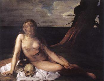 The Penitent Magdalene (study) | Francesco Paolo Hayez | oil painting