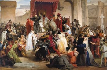 Pope Urban II Preaching the First Crusade | Francesco Paolo Hayez | oil painting
