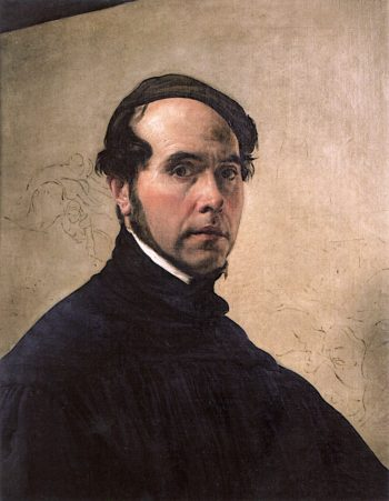 Self - Portrait at the Age of 48 | Francesco Paolo Hayez | oil painting