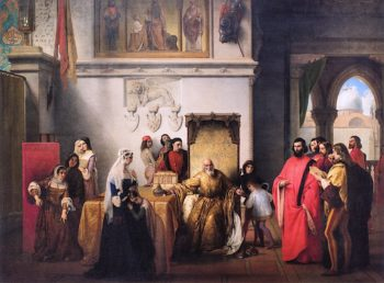 Francesco Foscari Destitute | Francesco Paolo Hayez | oil painting