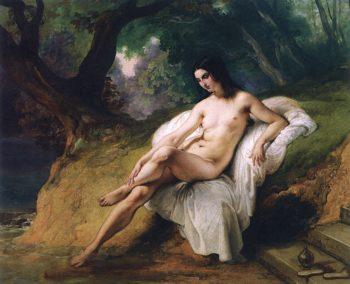 Woman Bathing | Francesco Paolo Hayez | oil painting