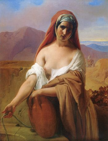 Rebecca at the Well | Francesco Paolo Hayez | oil painting