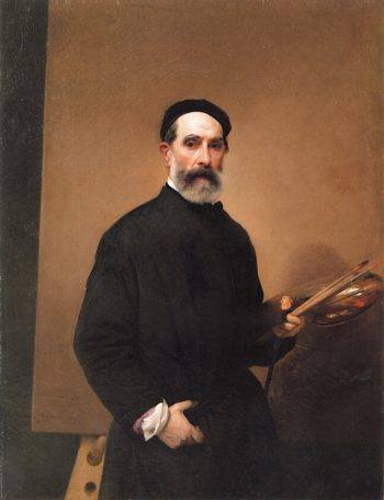 Self - Portrait at the Age of 71 | Francesco Paolo Hayez | oil painting