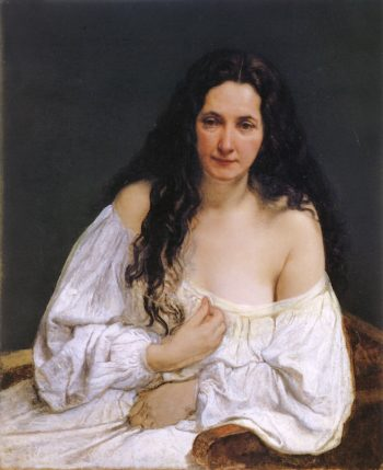 Portrait of a Woman with Her Hair Spread Out | Francesco Paolo Hayez | oil painting