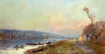 Banks of the Seine at Saint - Cloud   Albert Lebourg   oil painting