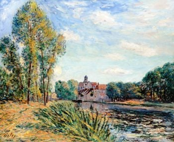 Late Afternoon at Moret | Alfred Sisley | oil painting
