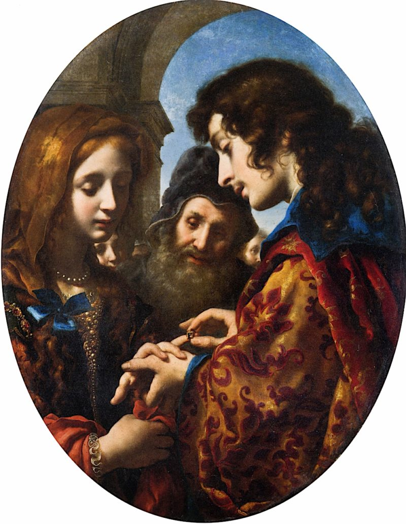 The Marriage of Tobias and Sarah   Carlo Dolci   oil painting