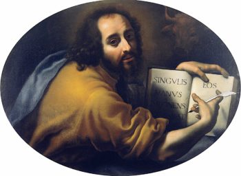 Dr. Antonio Lorenzi in the Guise of Saint Luke | Carlo Dolci | oil painting