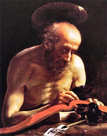 Saint Jerome Writing | Carlo Dolci | oil painting