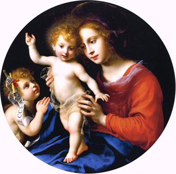Virgin and Child with the Infant Saint John the Baptist | Carlo Dolci | oil painting