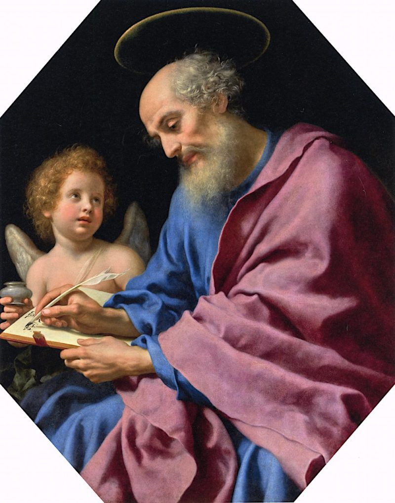 Saint Matthew Writing His Gospel | Carlo Dolci | oil painting