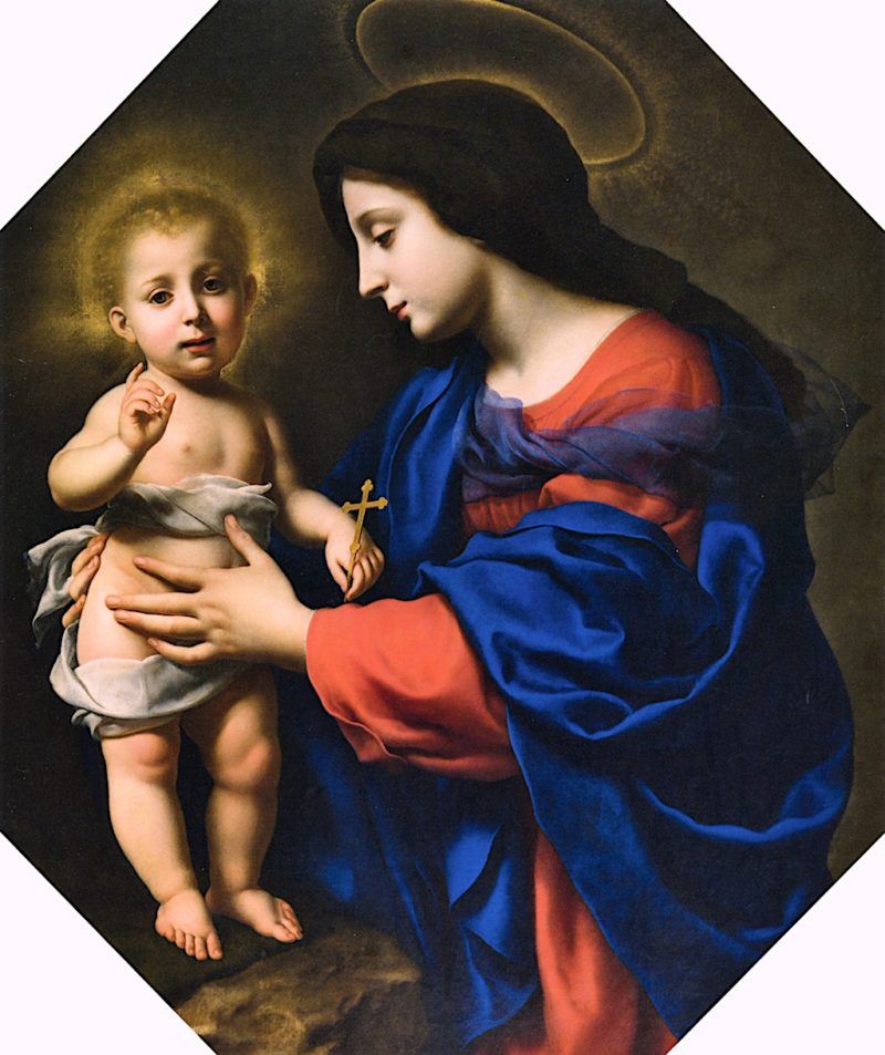 Madonna and Child   Carlo Dolci   oil painting