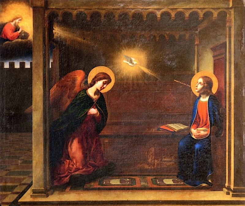 The Annunciation   Carlo Dolci   oil painting