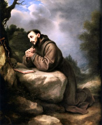 Saint Francis Praying | Carlo Dolci | oil painting