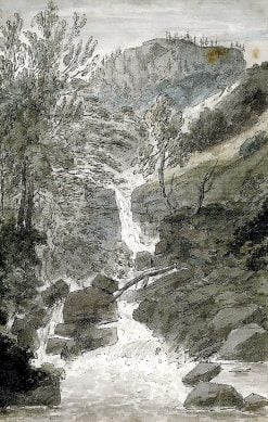 Fourth view of the Reichenbach | John Robert Cozens | oil painting