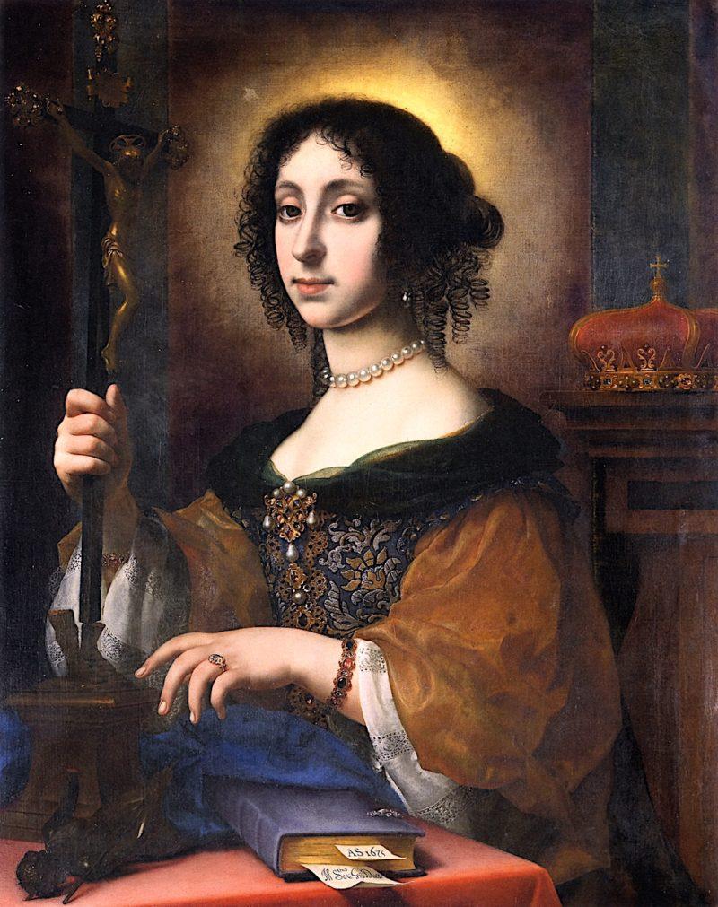 Archduchess Claudia Felicitas as Galia Placidia | Carlo Dolci | oil painting