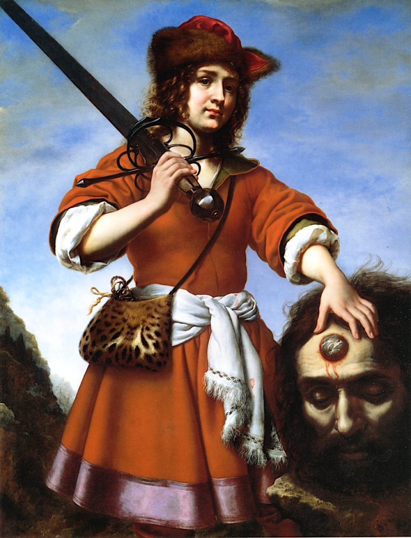 David with the Head of Goliath   Carlo Dolci   oil painting