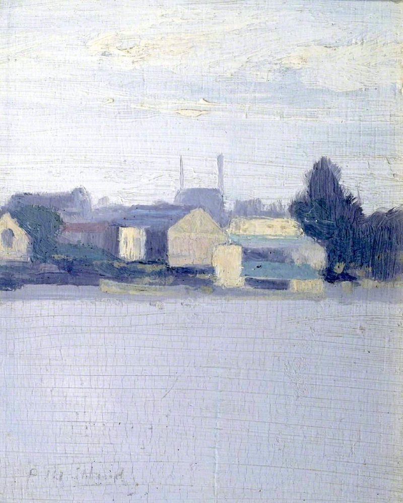 Battersea Boat Houses | Paul Fordyce Maitland | oil painting