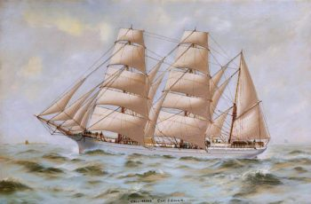 Barque Callirrhoe | Thomas G. Purvis | oil painting
