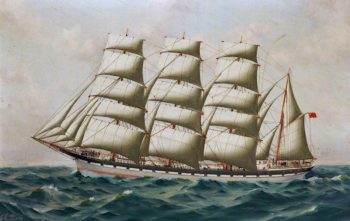 The Barque Earl of Dunmore | Thomas G. Purvis | oil painting