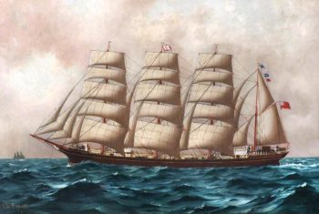 The Barque Norma | Thomas G. Purvis | oil painting