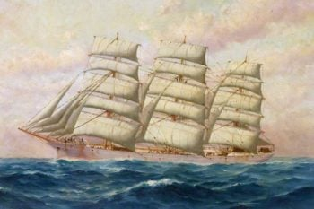 The SS Dudhope | Thomas G. Purvis | oil painting