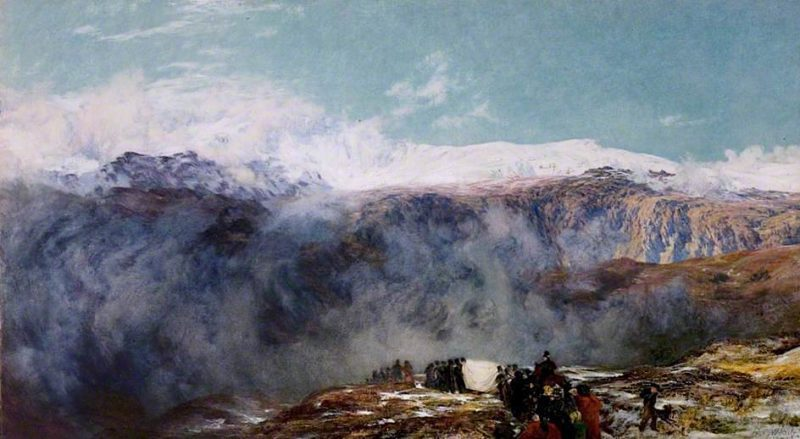 A Welsh Funeral | Henry Clarence Whaite | oil painting