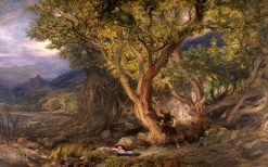 The Finding of Taliesin | Henry Clarence Whaite | oil painting