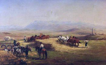Italian Harvest Scene | Charles Poingdestre | oil painting