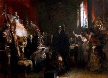 The Trial of Effie Deans   Robert Scott Lauder   oil painting