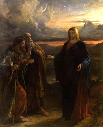 Christ and the Two Disciples on the Way to Emmaus | Robert Scott Lauder | oil painting