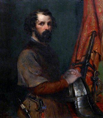 Self Portrait in Seventeenth - Century Costume   Robert Scott Lauder   oil painting