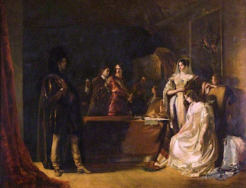 The Bride of Lammermoor   Robert Scott Lauder   oil painting
